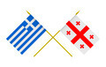 Flags of Georgia and Greece - PhotoDune Item for Sale