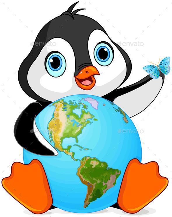 GraphicRiver Penguin Earth Day 11099778
