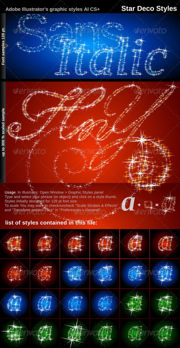 GraphicRiver Illustrator Graphic Styles Stars Deco 137427