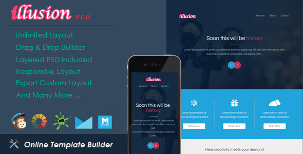 ThemeForest Illusion Responsive Email & Drag & Drop Builder 11099953