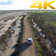 Aerial View Flying Over Cars on the Road - VideoHive Item for Sale