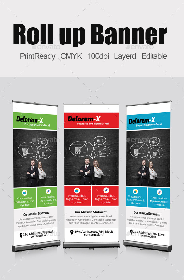 GraphicRiver Business Roll Up Banners Template 11100016
