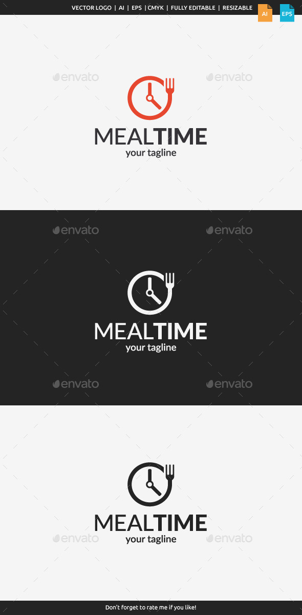 GraphicRiver Meal Time Logo 11100061