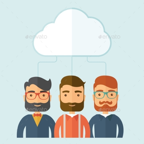 GraphicRiver Businessmen Under the Cloud 11100218