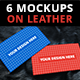 6 Business Card Mockups on Leather - GraphicRiver Item for Sale