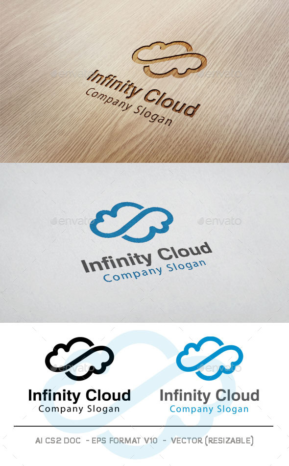 GraphicRiver Infinity Cloud Logo 11100566