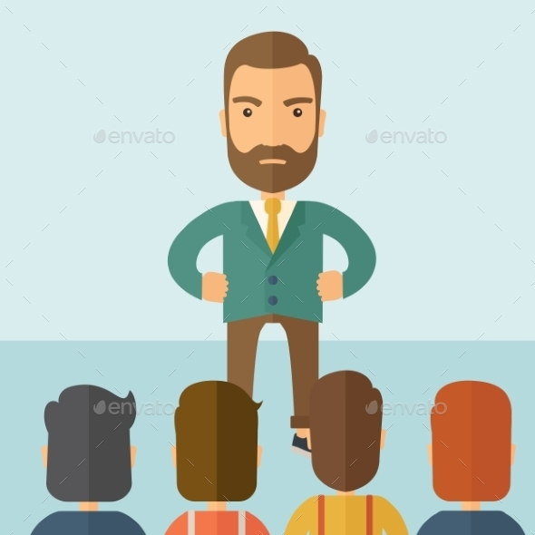 GraphicRiver Angry Boss Facing his Employees 11100703