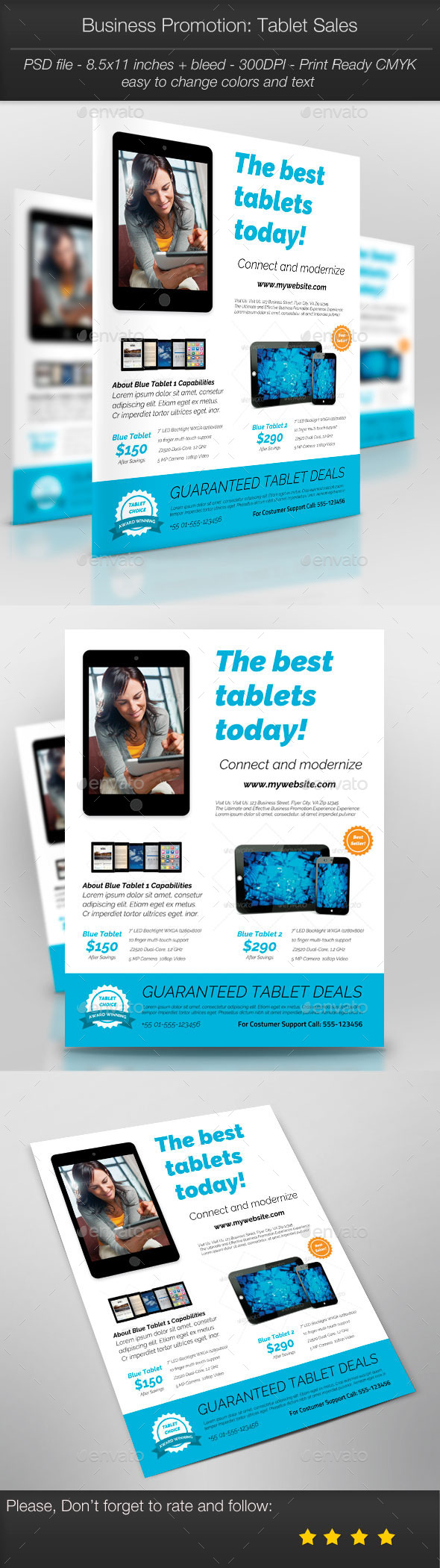 GraphicRiver Business Promotion Tablet Sales 11100745