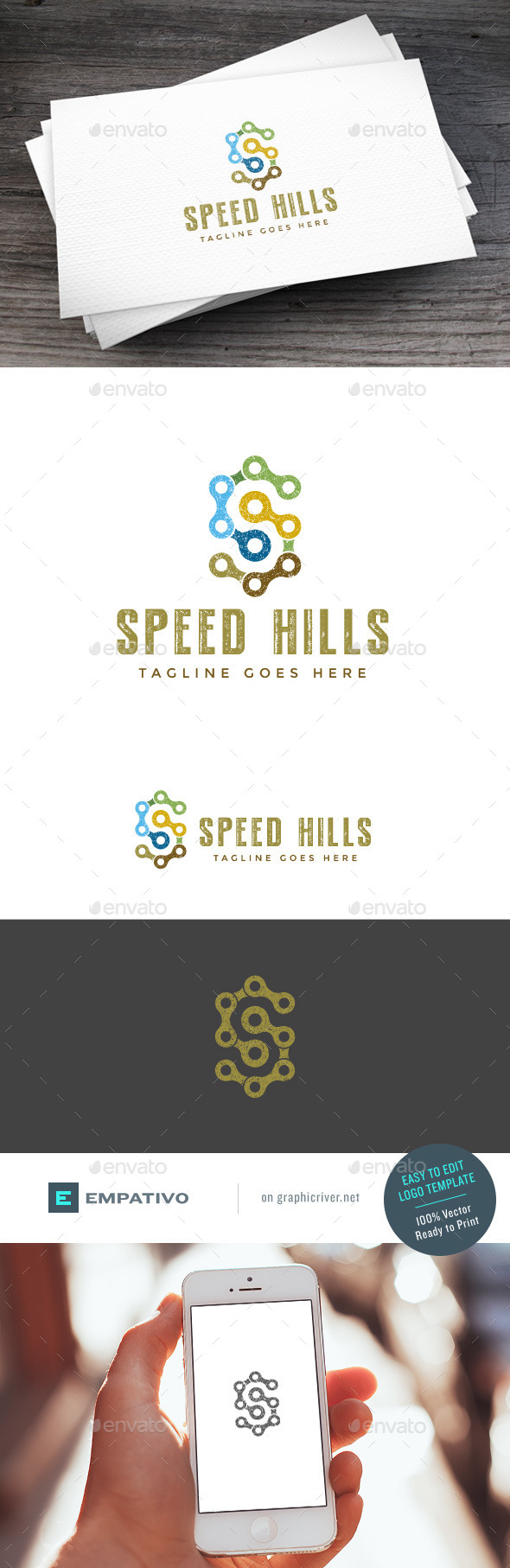 GraphicRiver Speed Hills Logo Template 11100804