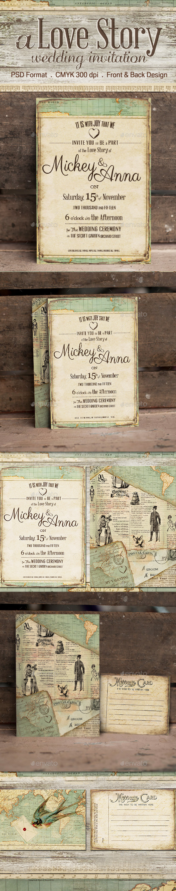 GraphicRiver The Journey Wedding Invitation 11100809