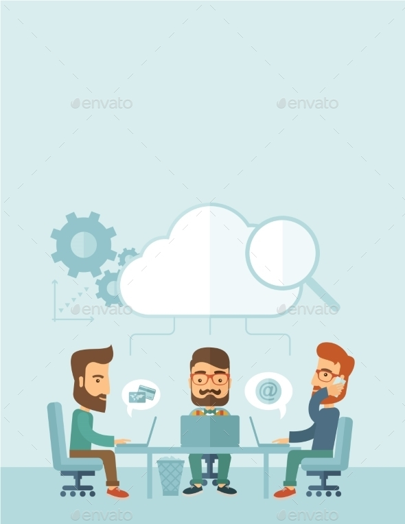 GraphicRiver Three Businessmen Working Together 11100808