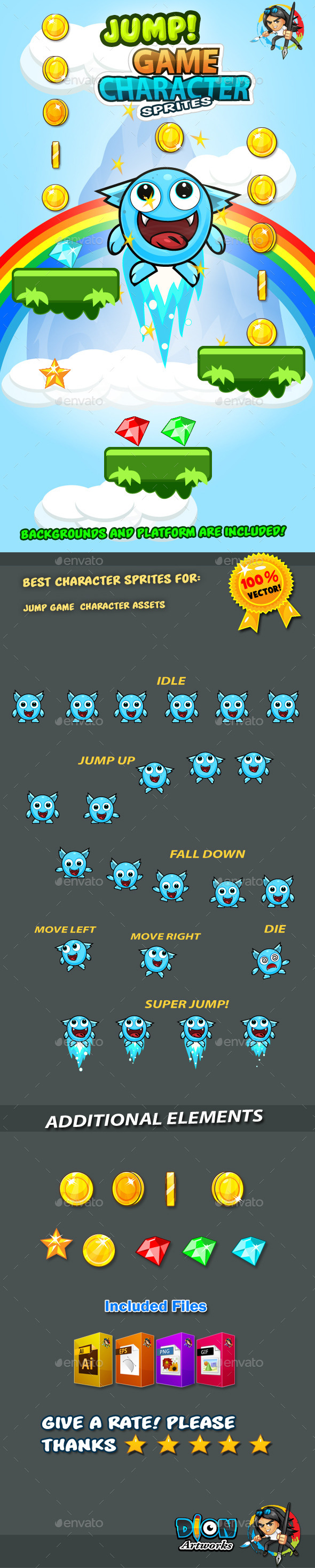 GraphicRiver Jump Game Character Sprites 11 11100857