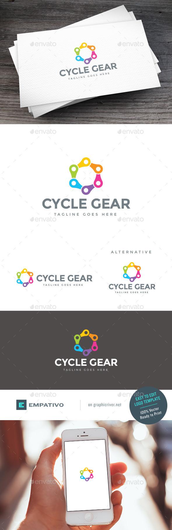 GraphicRiver Color Gear Logo Template 11100858