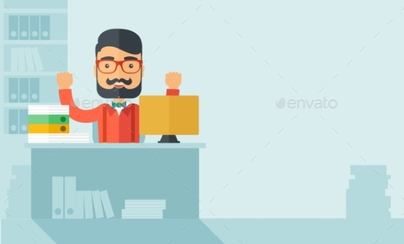 GraphicRiver Happy Businessman 11100862