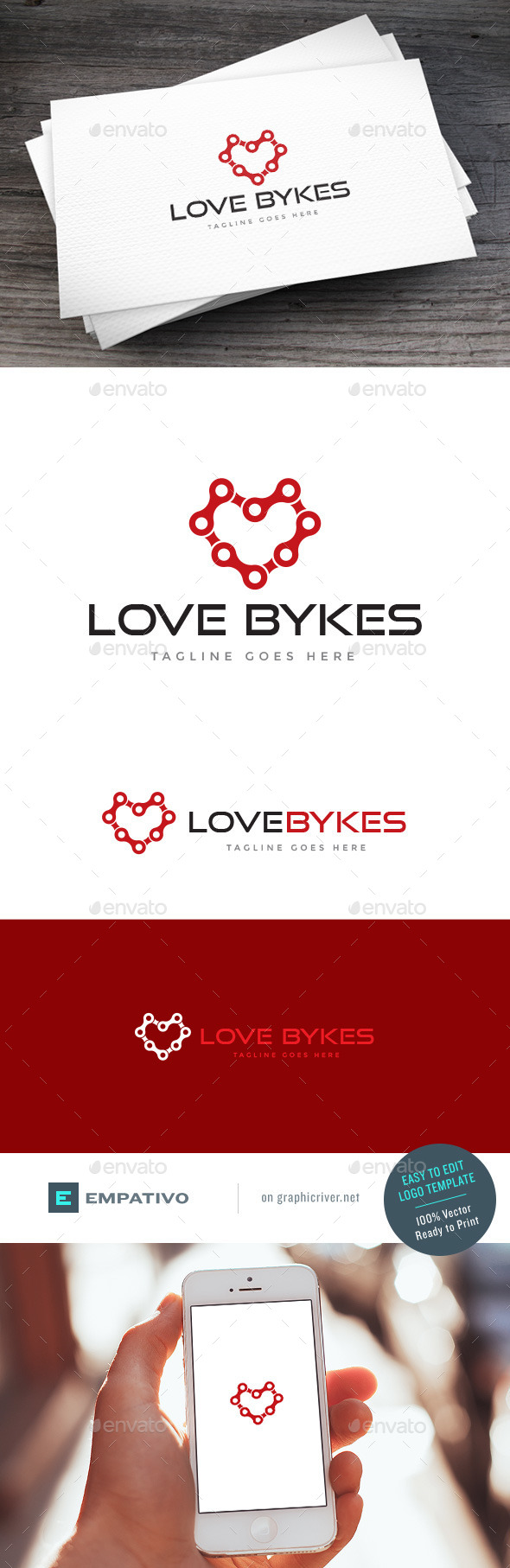 GraphicRiver Love Bykes Logo Template 11100981