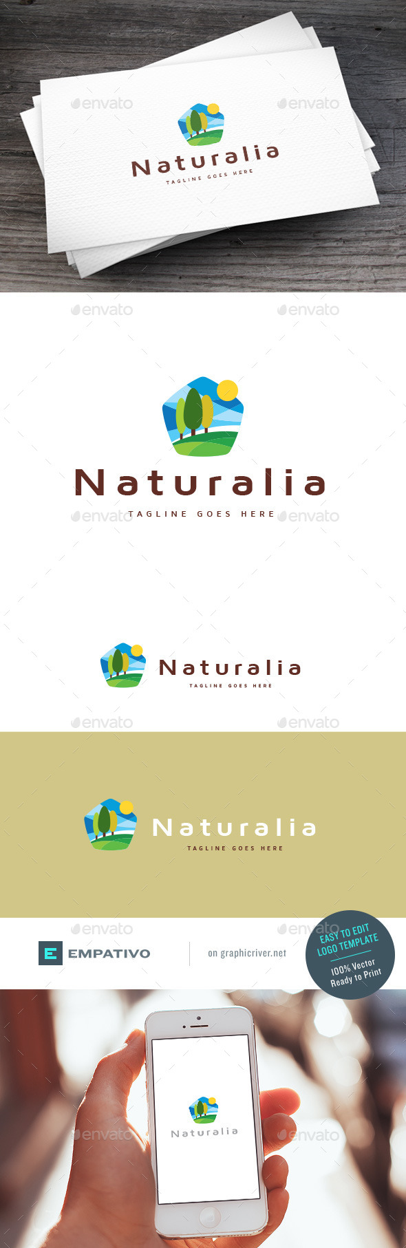 GraphicRiver Naturalia Logo Template 11100985
