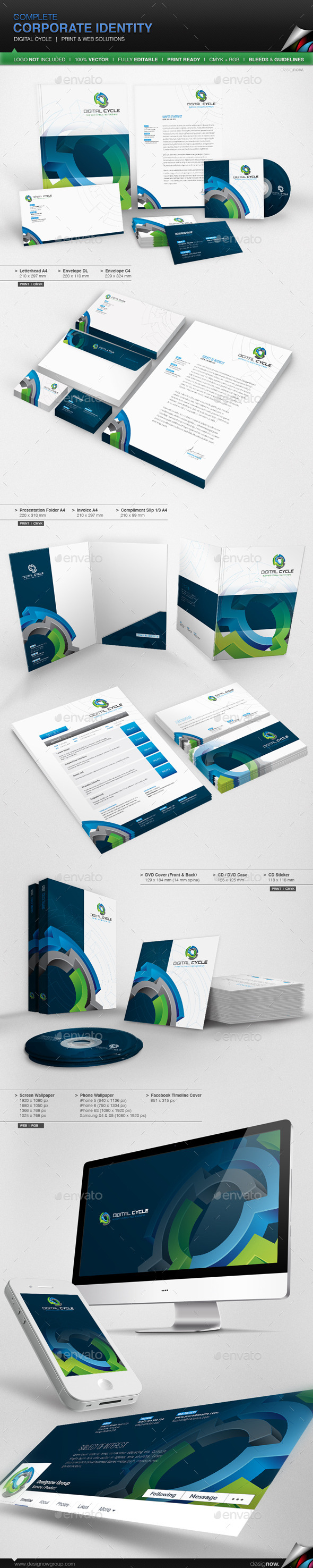GraphicRiver Corporate Identity Digital Cycle 11101008