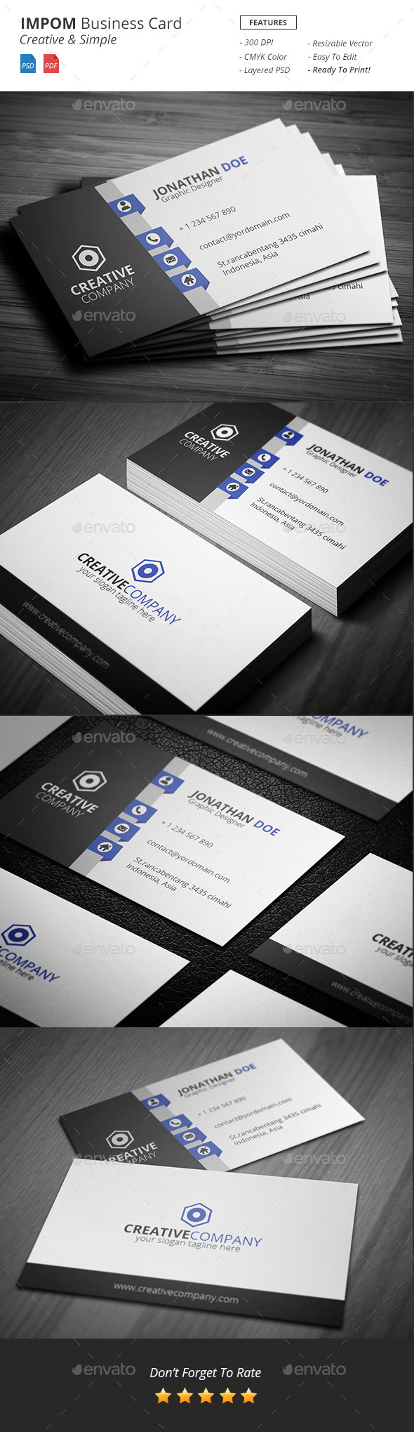 GraphicRiver Impom Business Card 11101017