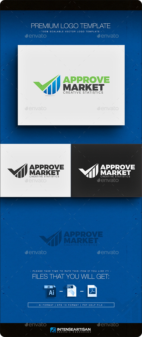GraphicRiver Approve Market Logo Template 11101019