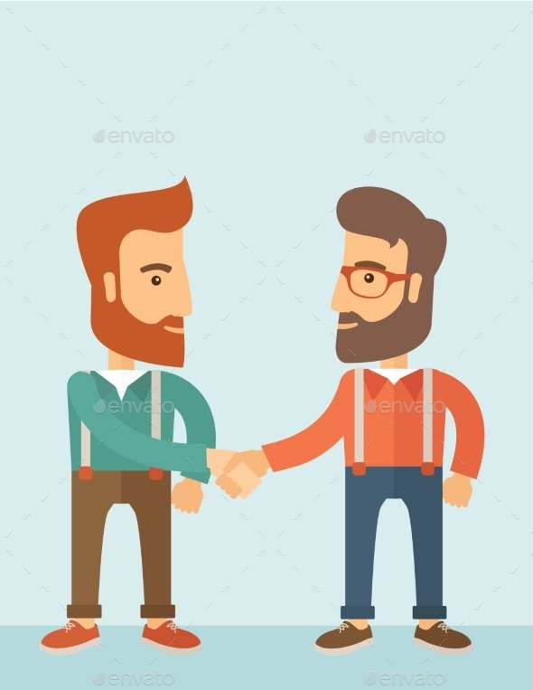 GraphicRiver Two Men Giving Handshake 11101021