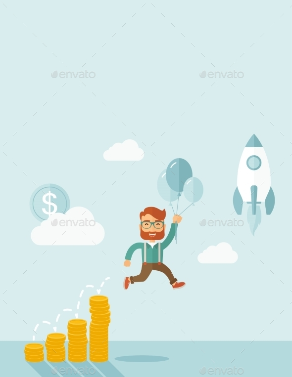GraphicRiver Businessman and Balloons 11101029