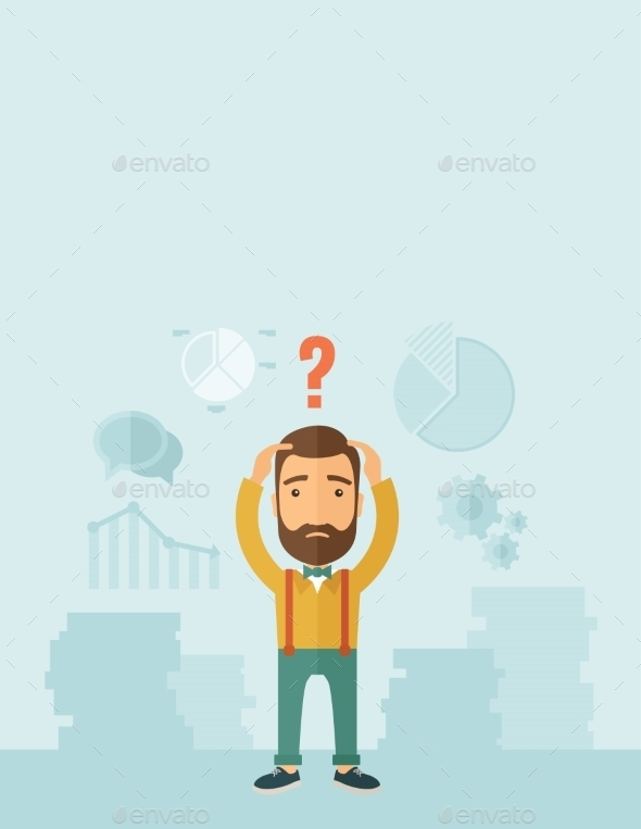 GraphicRiver Businessman with Question Mark 11101030