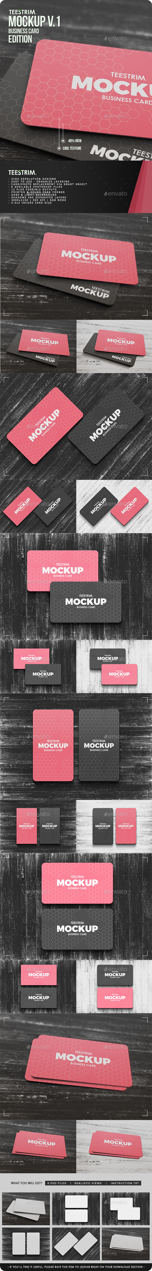 GraphicRiver Business Card Mock-Up V.1 11101054