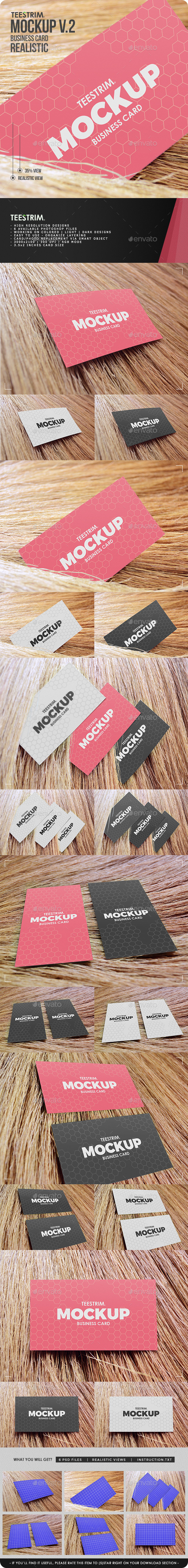 GraphicRiver Business Card Mock-Up V.2 11101124