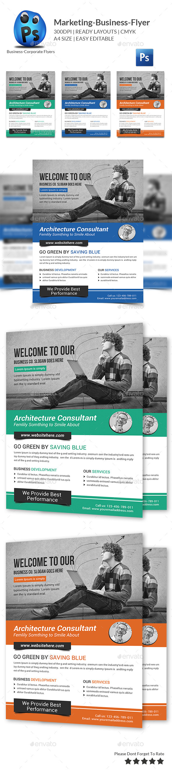 GraphicRiver Marketing Business Flyer Print Templates 11101151