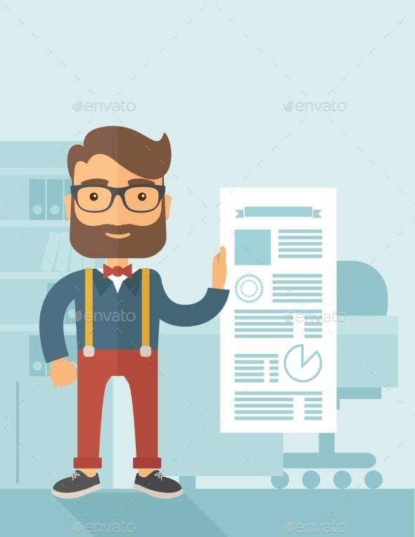 GraphicRiver Man Holding a Paper 11101167