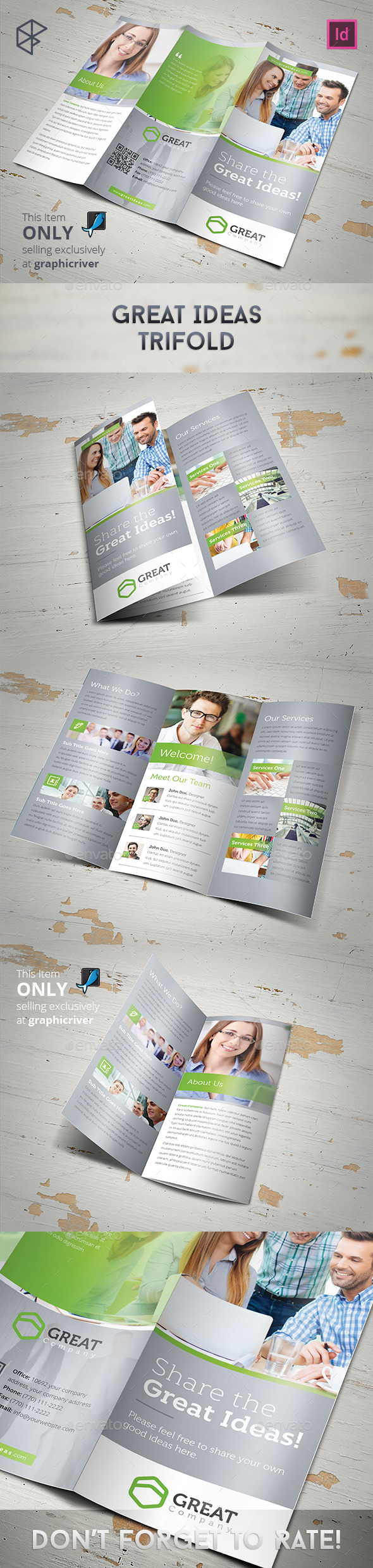 GraphicRiver Great Ideas Trifold 11101200