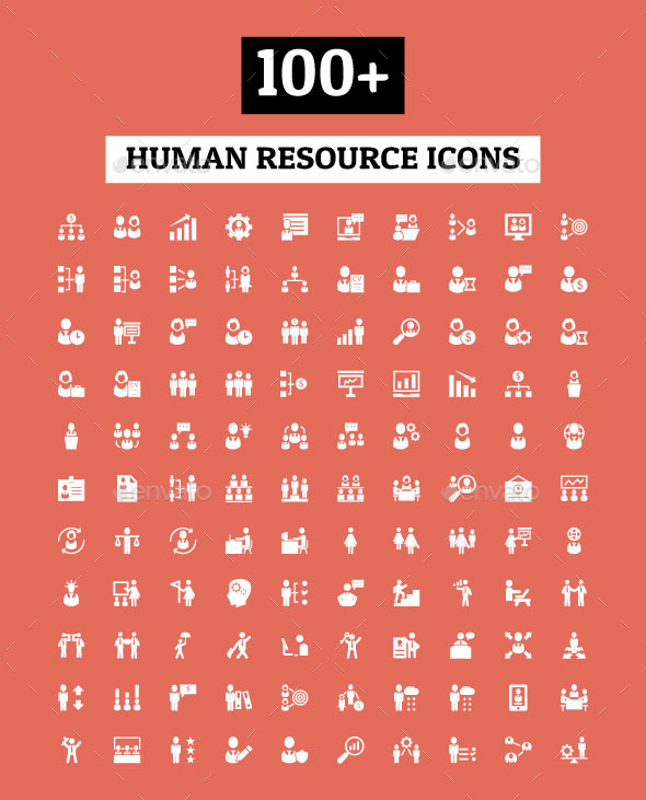 GraphicRiver 100& Human Resource Icons 11101302