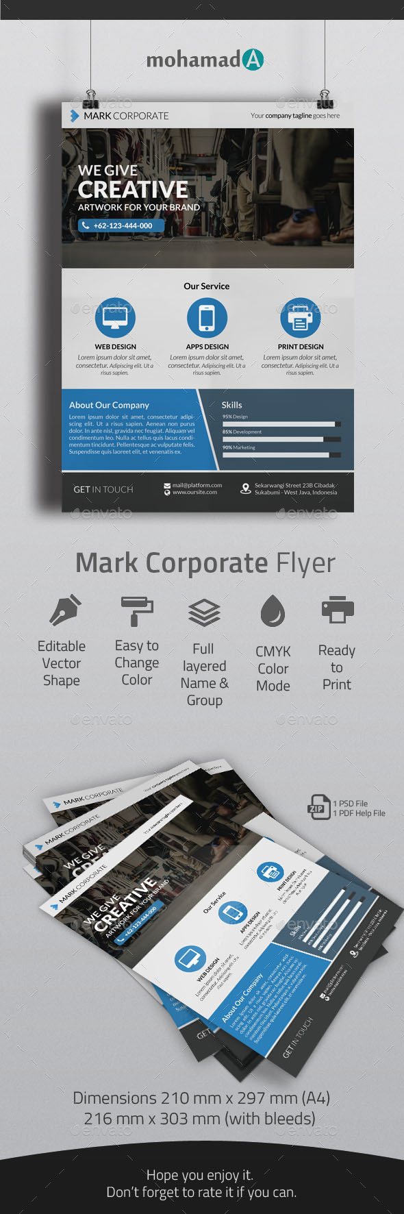 GraphicRiver Mark corporate flyer 11101384