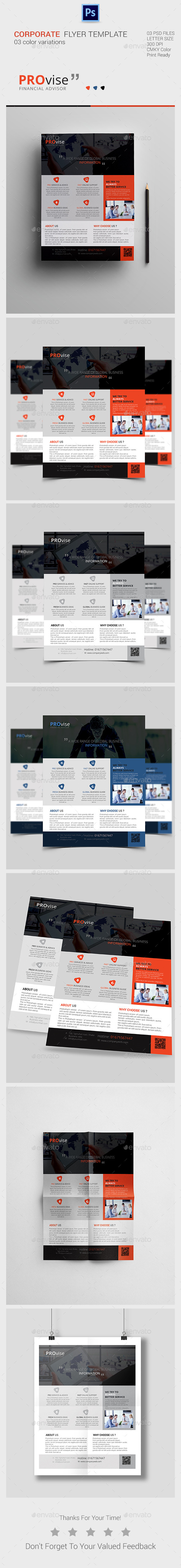 GraphicRiver Corporate Flyer Templates 11101447