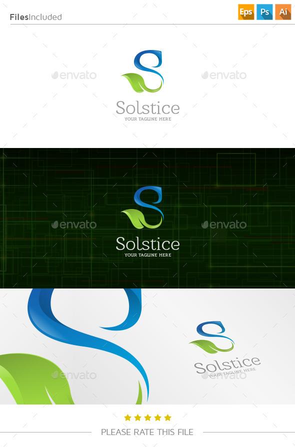 GraphicRiver Letter S Leaf Logo 11101503