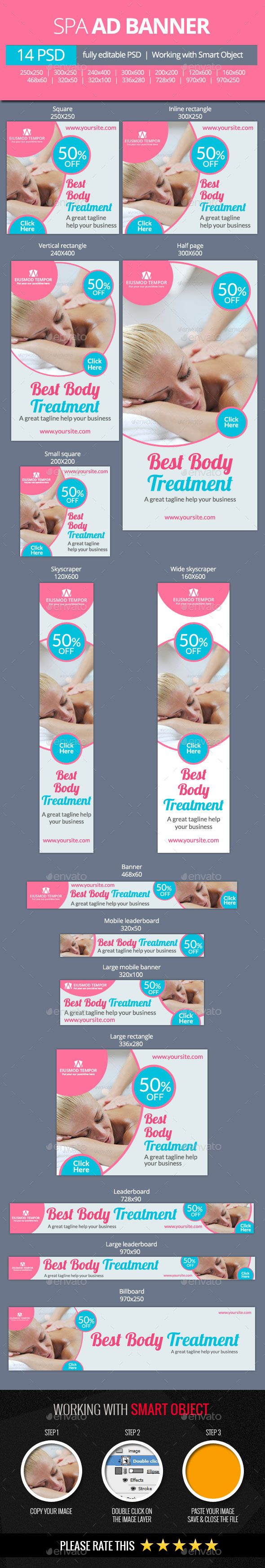 GraphicRiver Spa and Beauty Treatments Web Banners 11101606