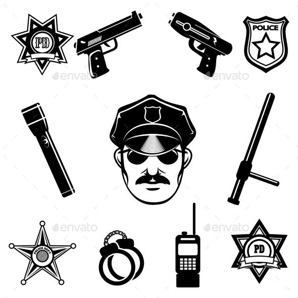 GraphicRiver Police Icon Set 11101779