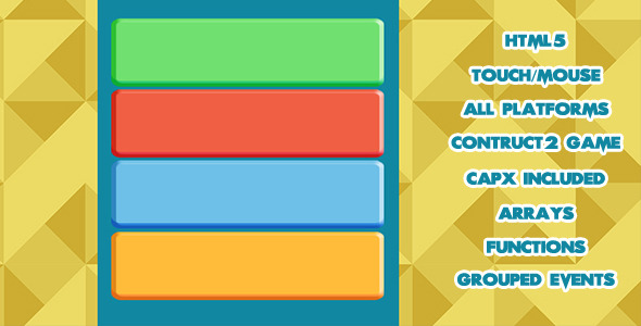 CodeCanyon Tap the Right Color HTML5 Game 10507049