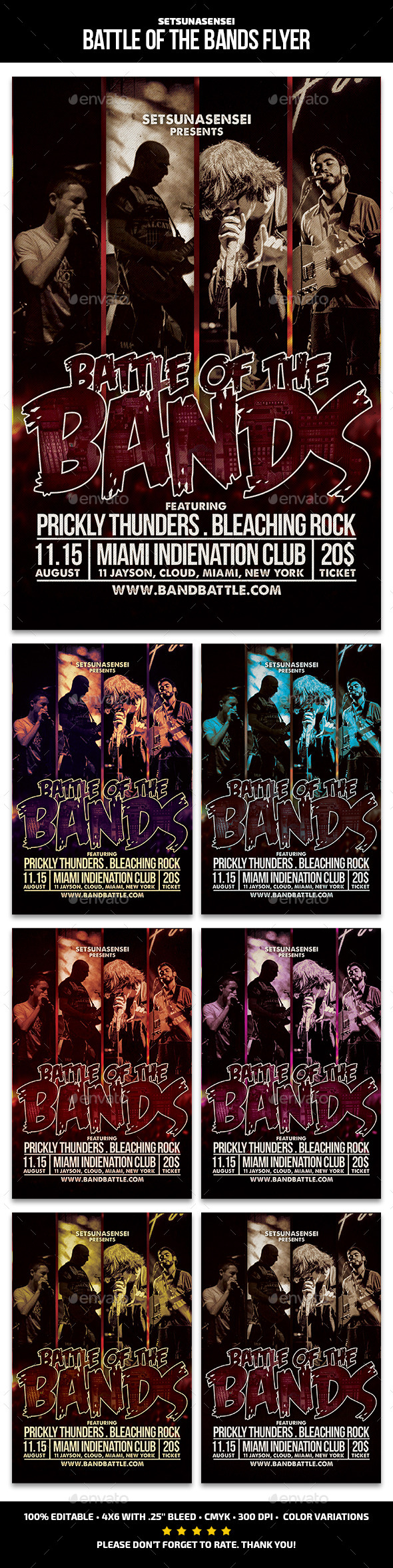 GraphicRiver Battle of the Bands Flyer Flyer 11102025