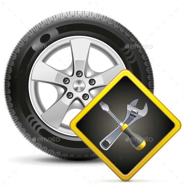 GraphicRiver Wheel and Sign 11102126