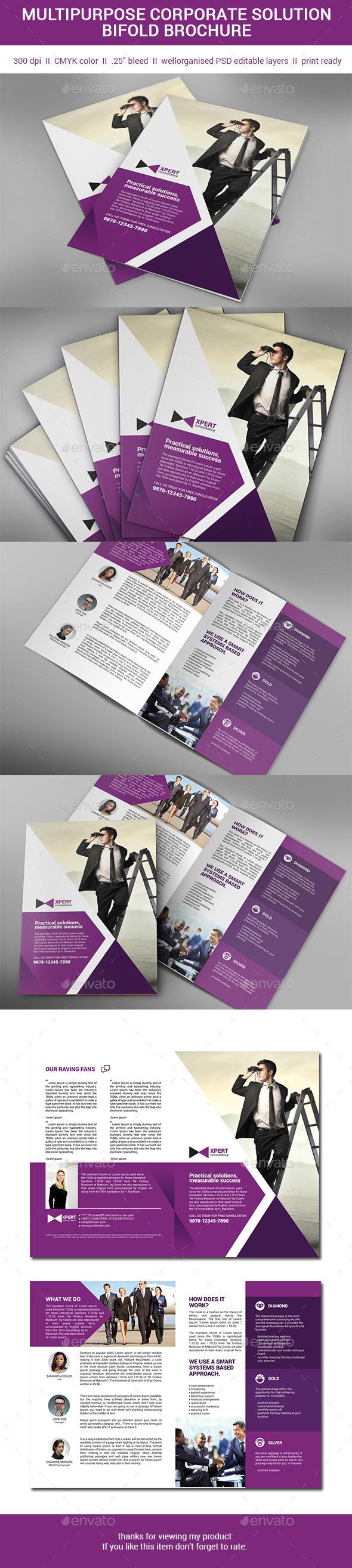 GraphicRiver Multipurpose Bifold brochure 11102141