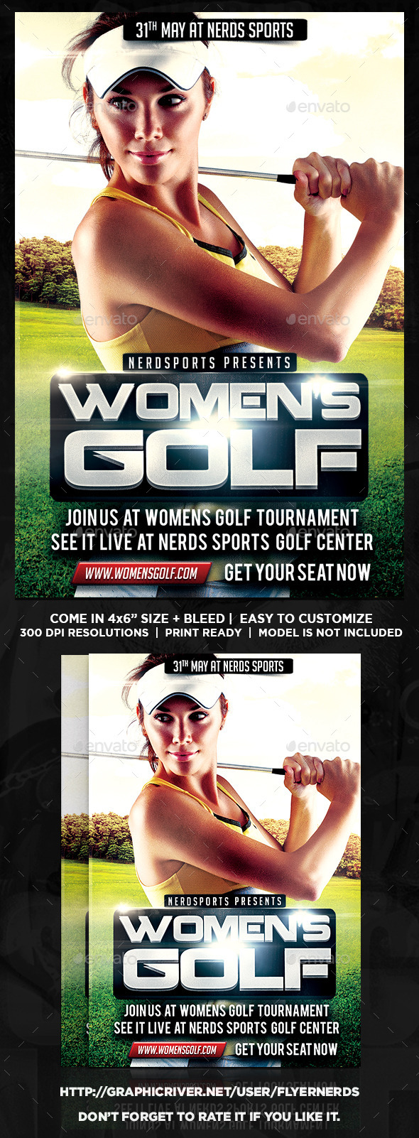 GraphicRiver Womens Golf Tournament Sports Flyer 11102347