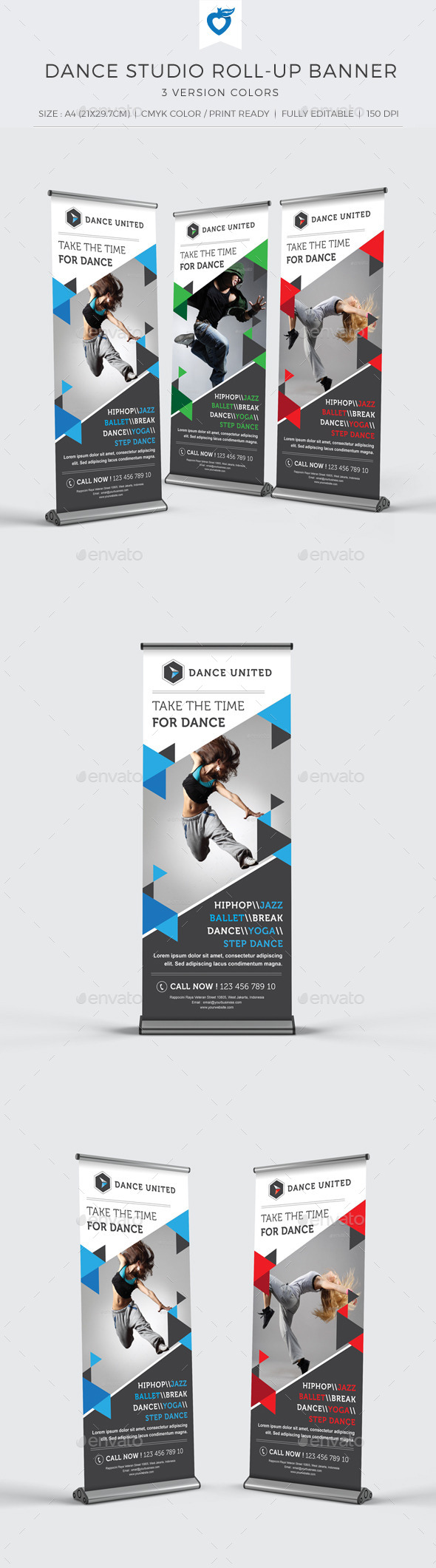 GraphicRiver Dance Studio Roll-up Banner 11102600