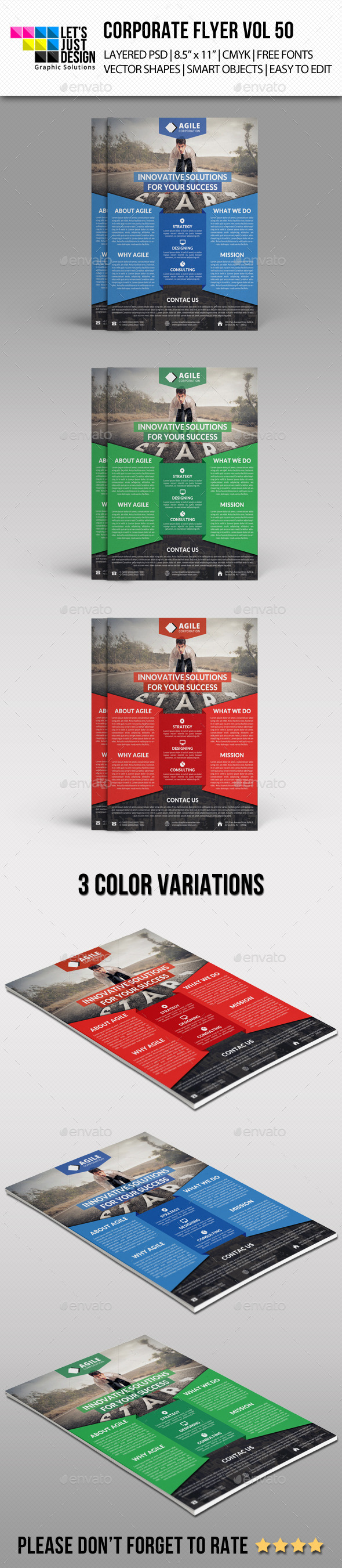 GraphicRiver Corporate Flyer Template Vol 50 11102747