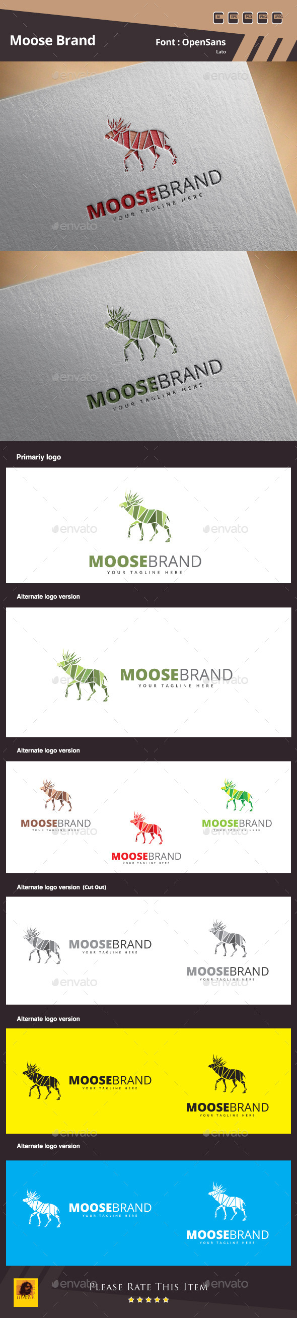 GraphicRiver Moose Brand Logo Template 11102751