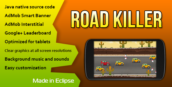 CodeCanyon Road Killer with AdMob and Leaderboard 11103251