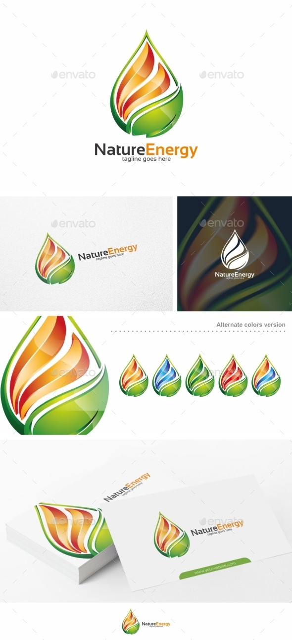 GraphicRiver Nature Energy Fire Logo Template 11103512