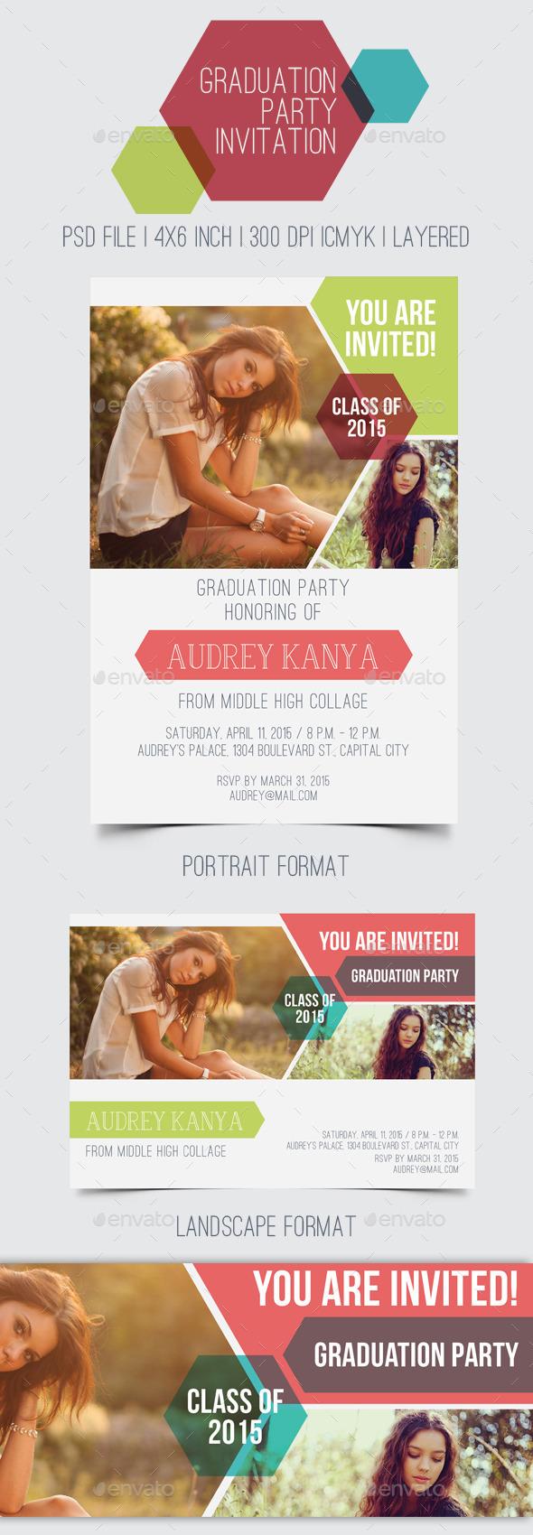 GraphicRiver Graduation Party Invitation 11103527