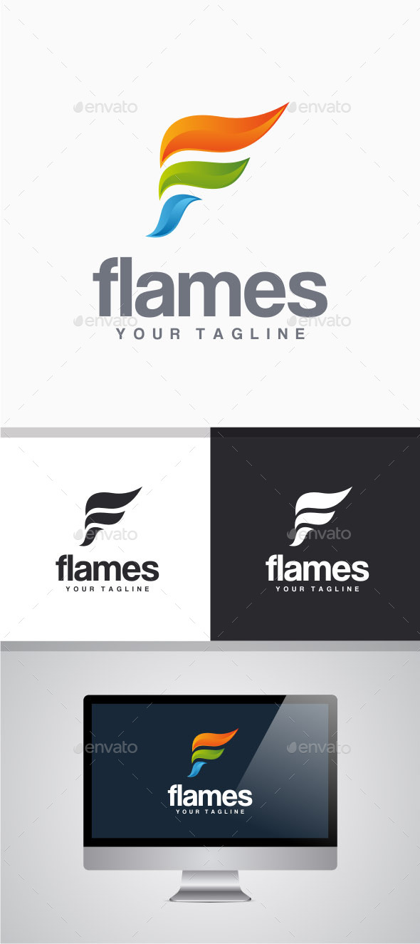 GraphicRiver Flames Logo 11103567