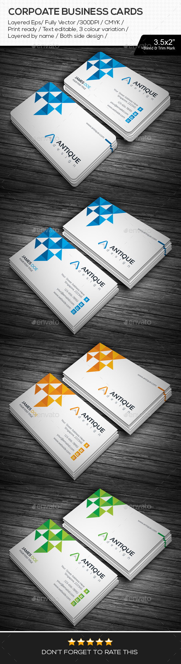 GraphicRiver Corporate Business Cards 11103579